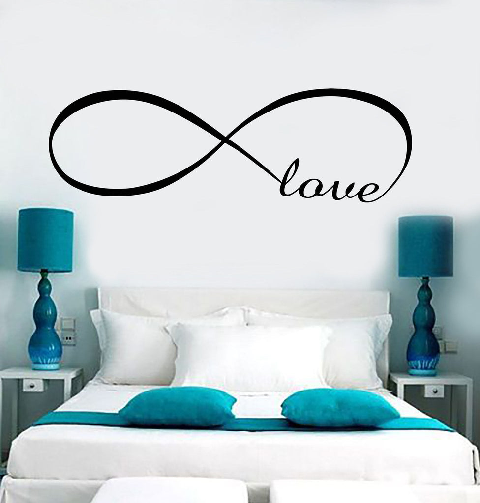 Decal Wall Vinyl Love Infinity Woman Girl Room Romantic Bedroom Art Stickers  Unique Gift (ig3638