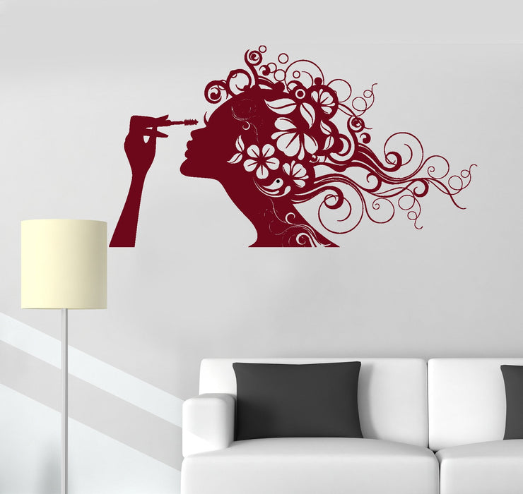 Wall Vinyl Decal Beauty Salon Cosmetics Makeup Hair Stickers Unique Gift (ig3118)