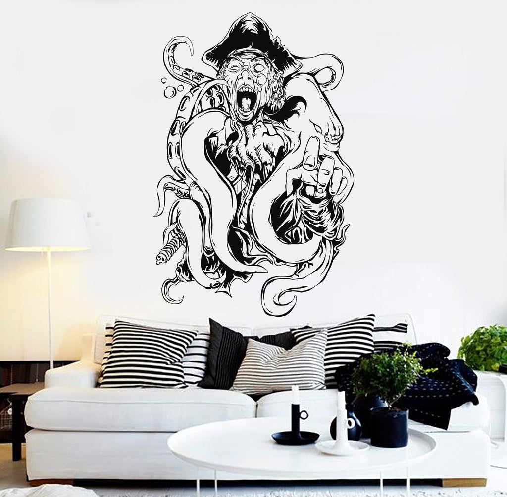 Vinyl wall decal pirate octopus tentacles kraken ocean creature vinyl wall decal pirate octopus tentacles kraken ocean creature stickers unique gift ig3663 amipublicfo Gallery