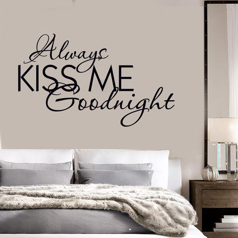 Vinyl Decal Quote Bedrooms Always Kiss Me Goodnight Wall Stickers Unique Gift (ig1315)  sc 1 st  Wallstickers4you & Quotes And Words Wall Vinyl Decals u2013 Page 2 u2013 Wallstickers4you