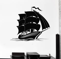 Vinyl Decal Ship Nautical Marine Ocean Sea Kids Room Wall Stickers Unique Gift (ig2948)