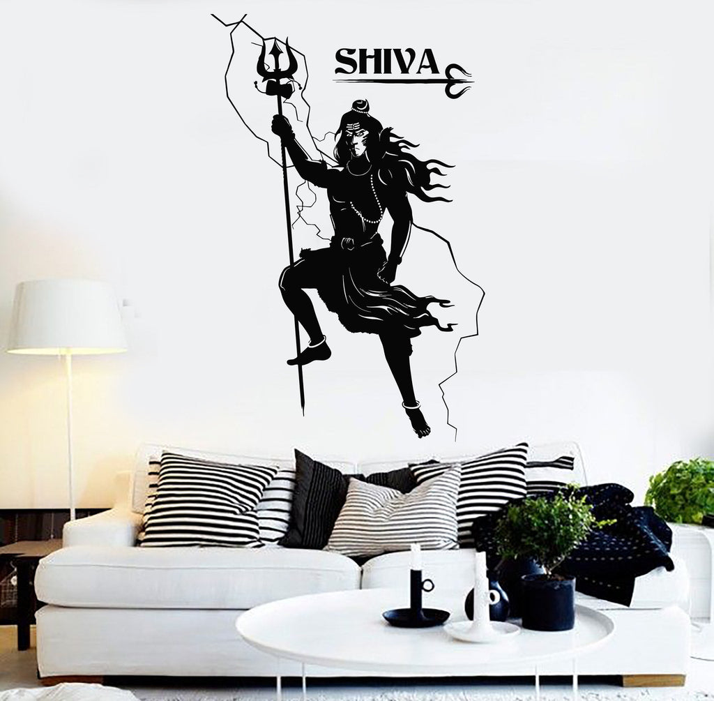 Vinyl Wall Decal Shiva Hinduism Indian God India Hindu Stickers - Wall decals india