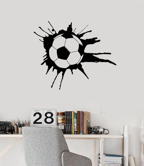 Wall Decal Soccer Sport Ball Sports Fans Boys Room Art Vinyl Stickers Unique Gift (ig2858)