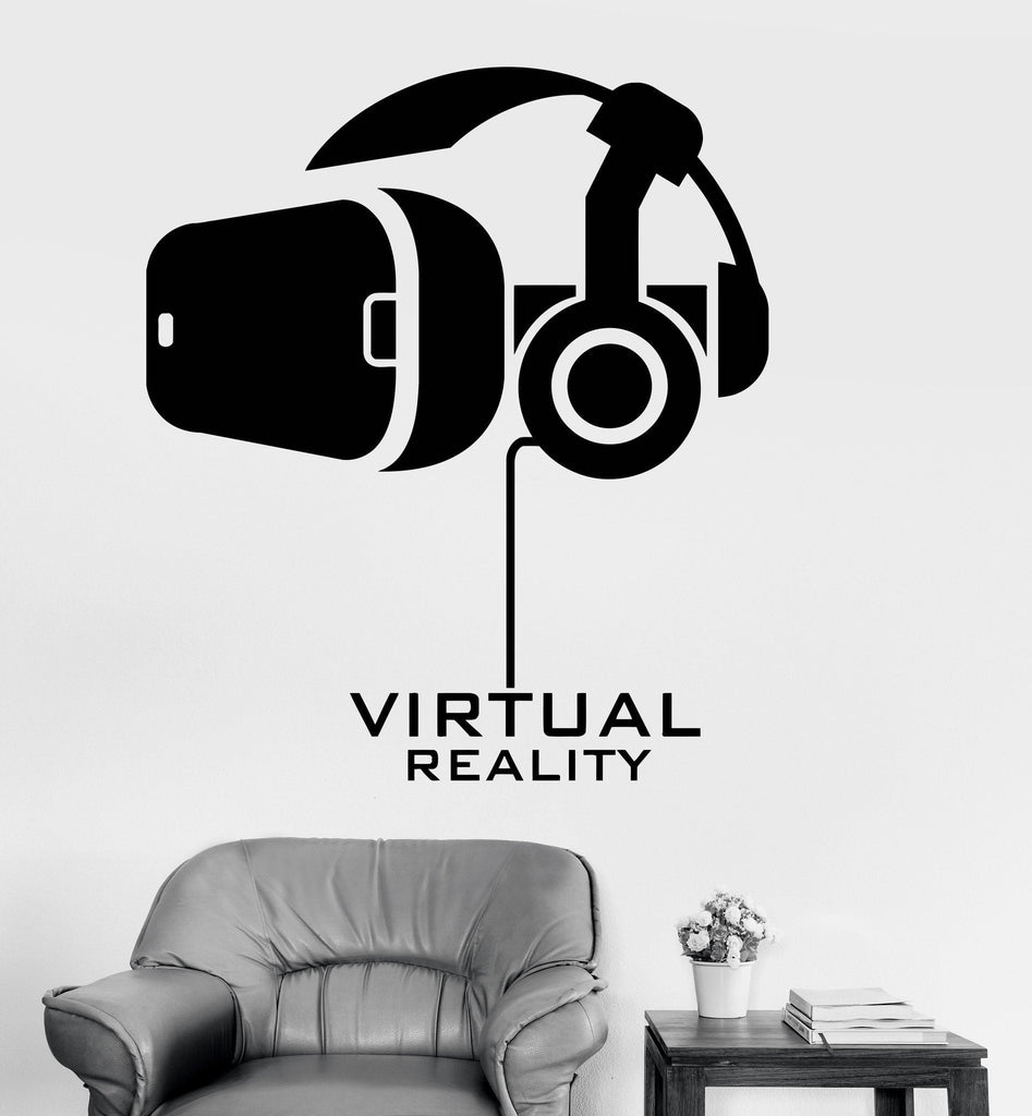 Vinyl Wall Decal Virtual Reality Computer Technology Stickers Mural Unique  Gift (ig3703)