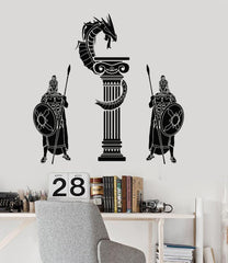 Vinyl Wall Decal Ancient Greece Warriors Dragon Boy Room Stickers Unique Gift (196ig)