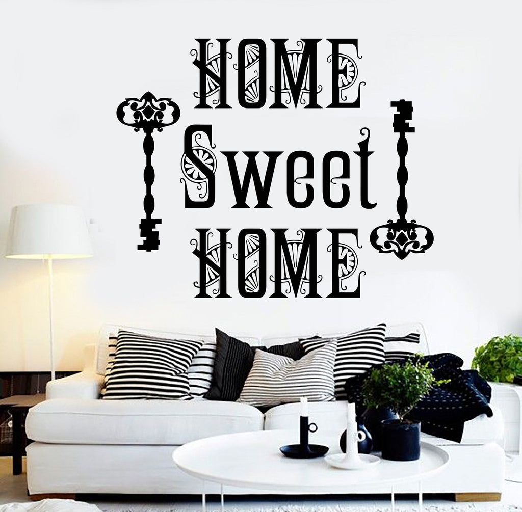 Vinyl Wall Decal Home Sweet Home Quote Room Decoration Stickers ...