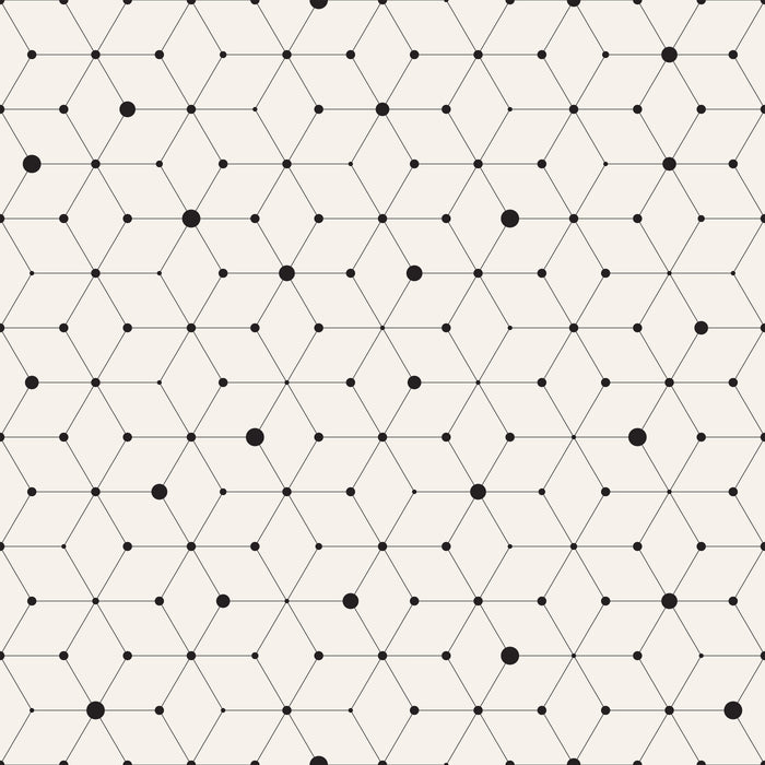 Lines and Dots Geometric Multicolored Wallpaper Reusable Removable Accent Wall Interior Art (wal021)