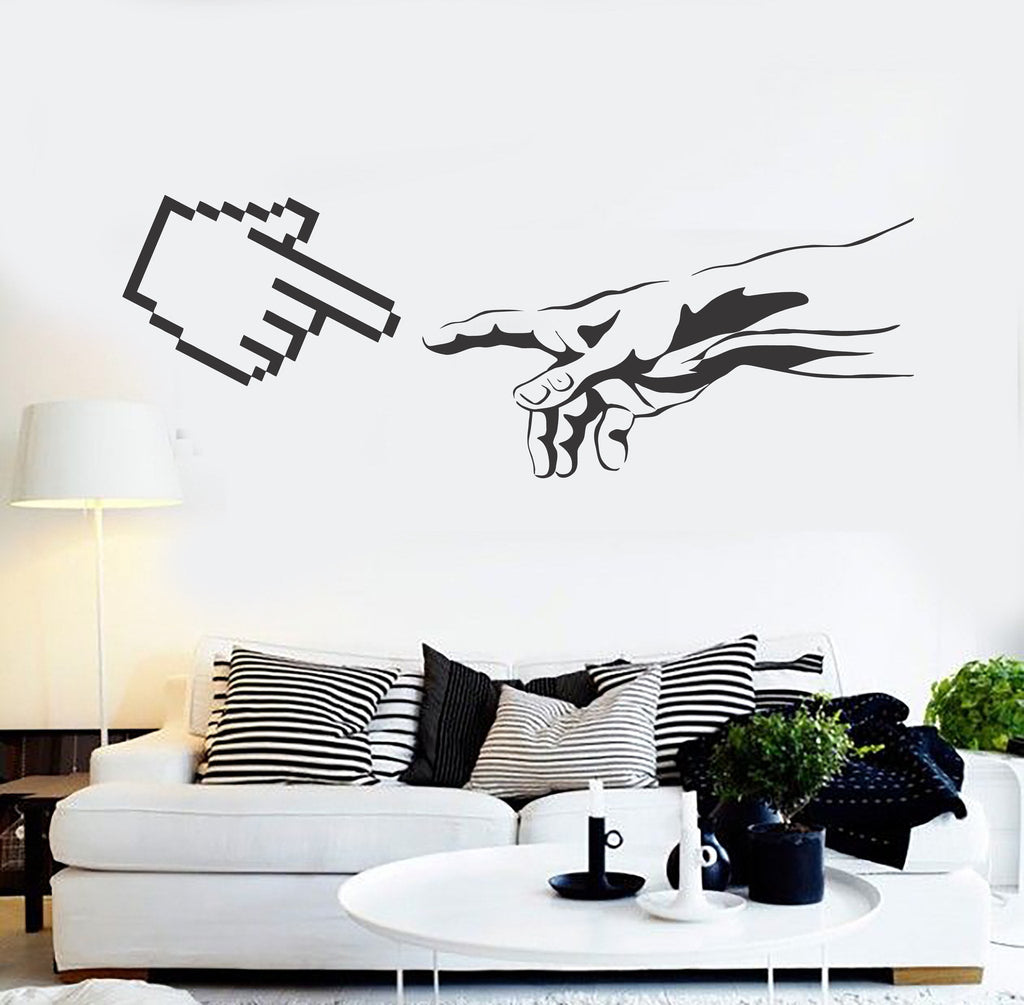 Vinyl Wall Decal Geek Art Funny The Creation of Adam Computer Stickers Unique Gift (ig4601 & Vinyl Wall Decal Geek Art Funny The Creation of Adam Computer ...