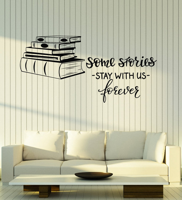 Vinyl Wall Decal Books Shop Quote Library Reading Room Decor Art ...