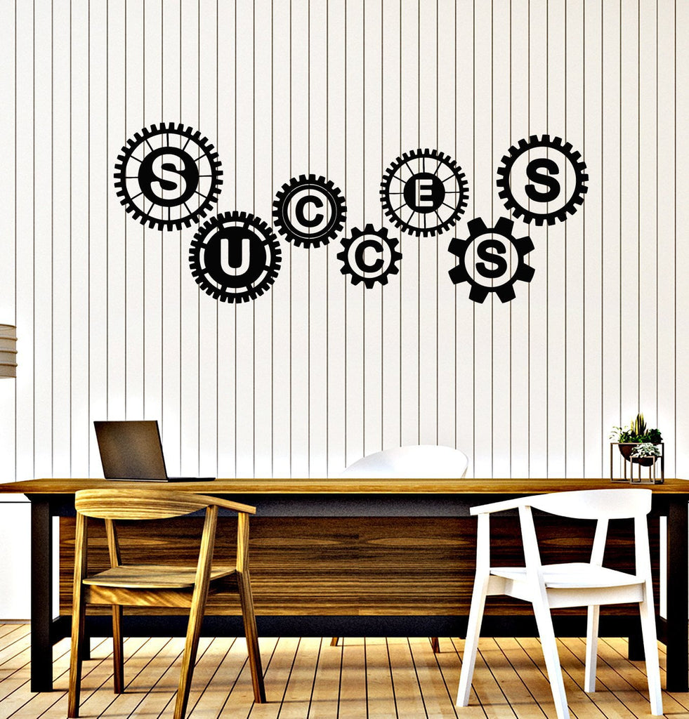 Vinyl Wall Decal Success Gears Office Teamwork Business Room Art Stickers Mural Unique Gift (ig5077  sc 1 st  Wallstickers4you & Vinyl Wall Decal Success Gears Office Teamwork Business Room Art ...