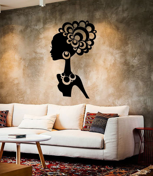 Wall Stickers Vinyl Decal Hot Sexy Girl Black African Lady Cool Decor Unique Gift (ig2271)