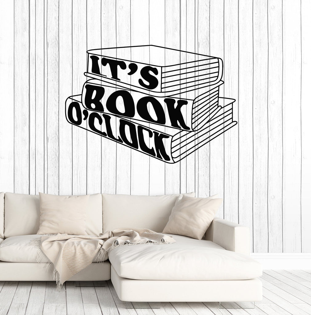 Vinyl Wall Decal Books Quote Booklover Library Reading Room Art - Vinyl wall decals books