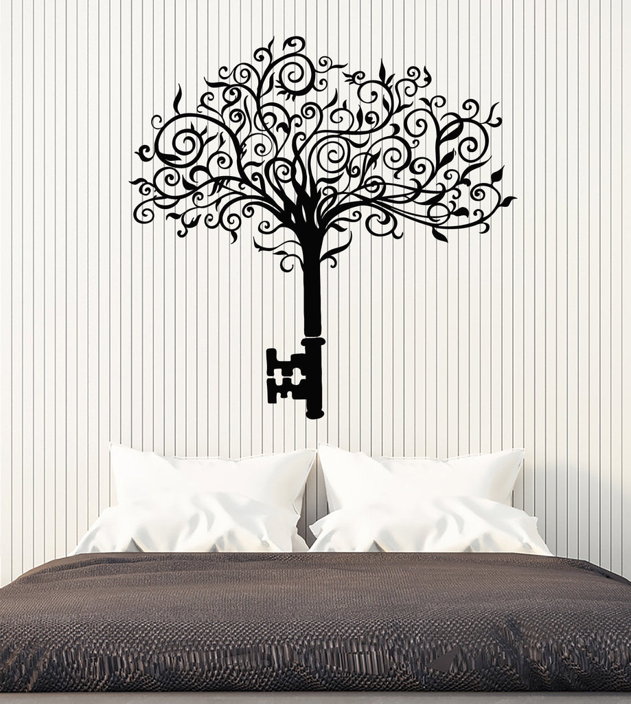 Vinyl Wall Decal Abstract Tree Key Home Art Interior Ideas Stickers Unique Gift (ig4855)  sc 1 st  Wallstickers4you & Vinyl Wall Decal Abstract Tree Key Home Art Interior Ideas Stickers ...