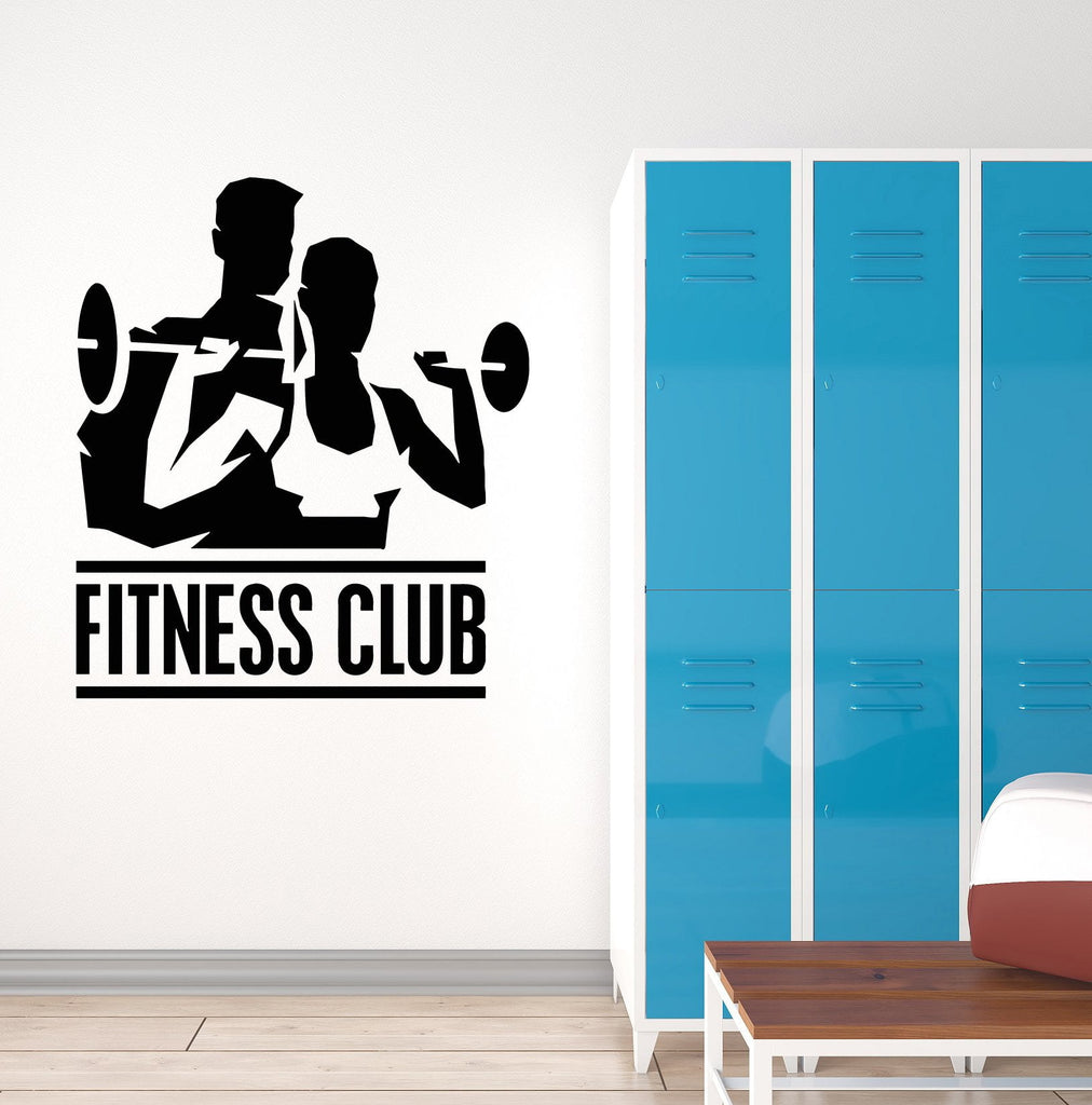 Vinyl Decal Fitness Club Gym Sports Bodybuilding Coach Wall Stickers Unique Gift (ig3076)