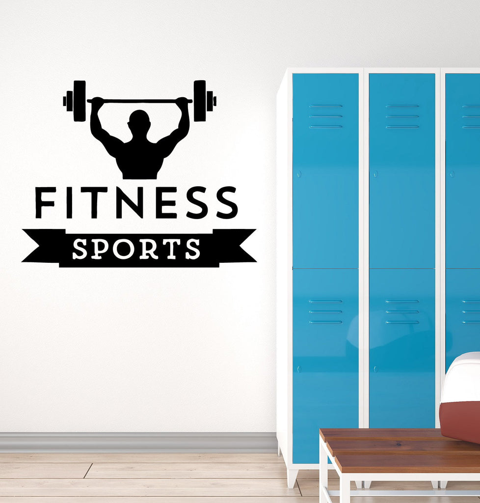 Vinyl Decal Fitness Sports Gym Bodybuilding  Iron Sport Muscled Wall Stickers Unique Gift (ig257)