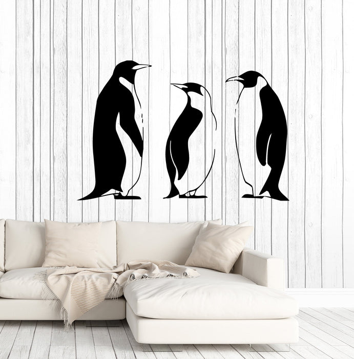 Wall Sticker Vinyl Decal Funny Animal Birds Penguins Arctic Bathroom Decor Unique Gift ig872