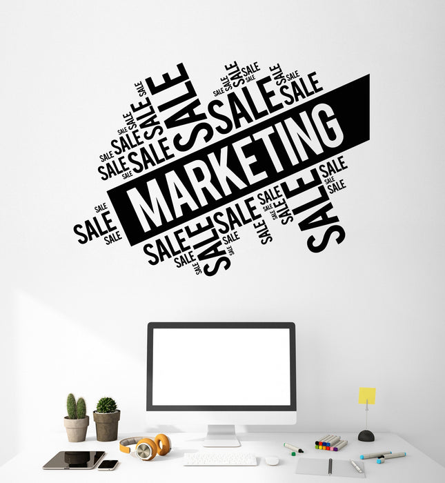 Vinyl Wall Decal Marketing Sale Words Cloud Office Art Decorating Stickers  Mural Unique Gift (ig5041)