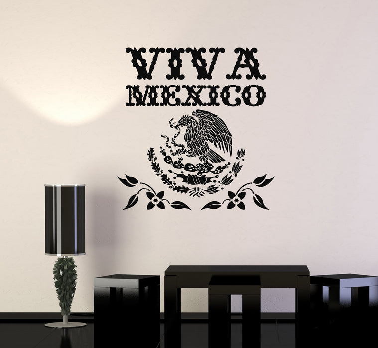 """Vinyl Decal Window Sticker MEXICAN EAGLE V1 5/"""" RED"""