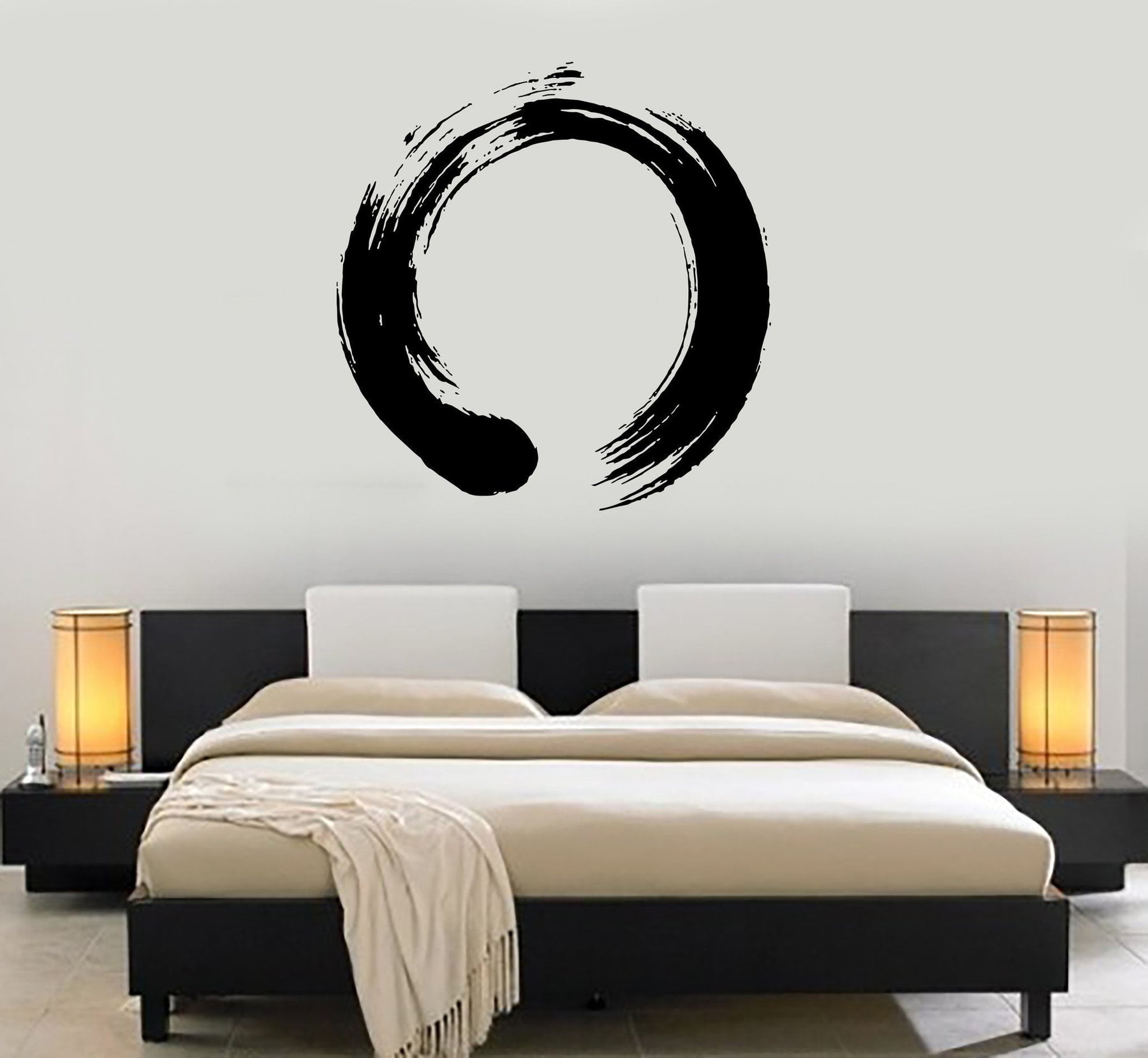 Decal Vinyl Wall Circle Enso Zen Calligraphy Japan Nirvana Stickers Unique Gift (ig1713)
