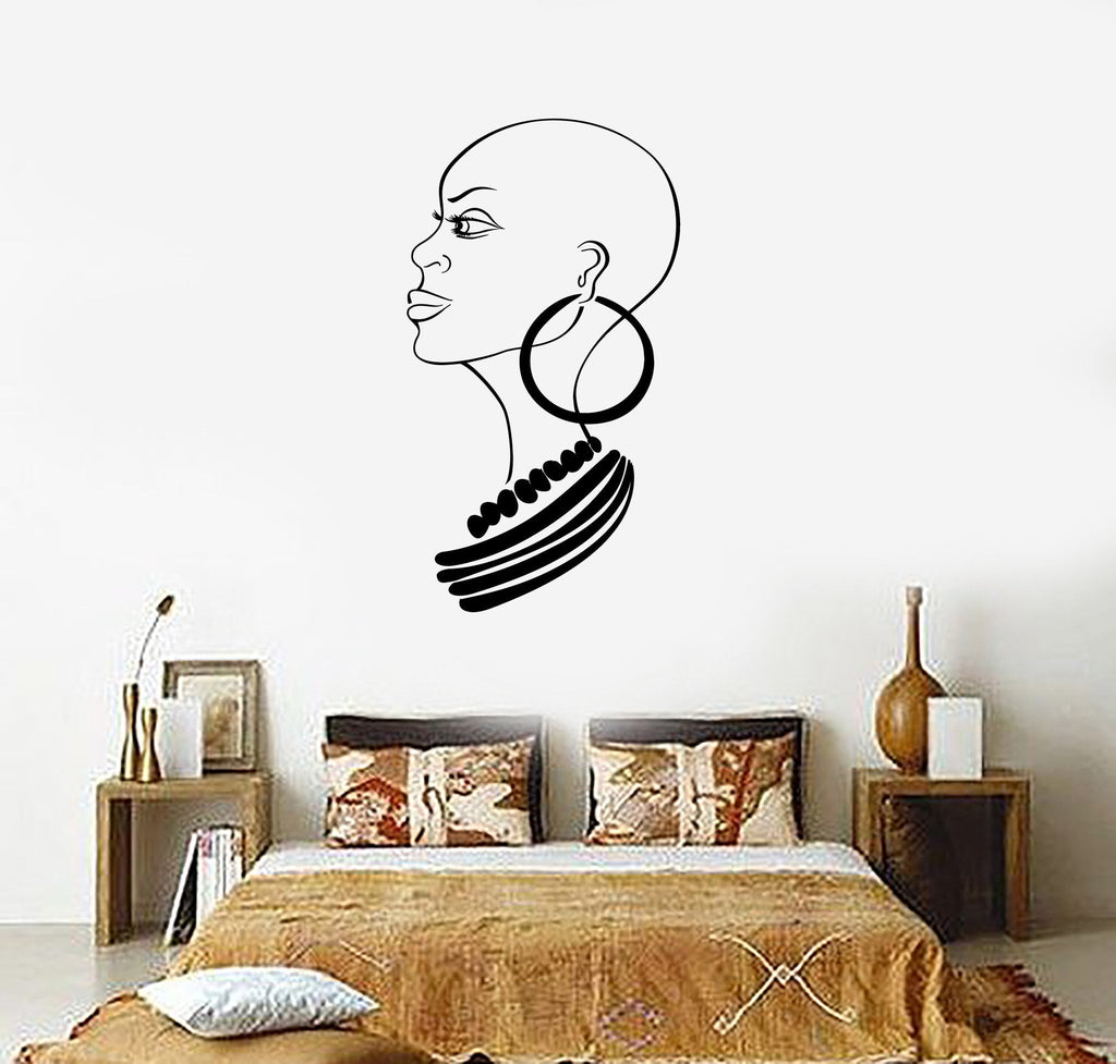 Wall Stickers Vinyl Decal Beautiful African Woman Beauty Salon Unique Wallstickers4you