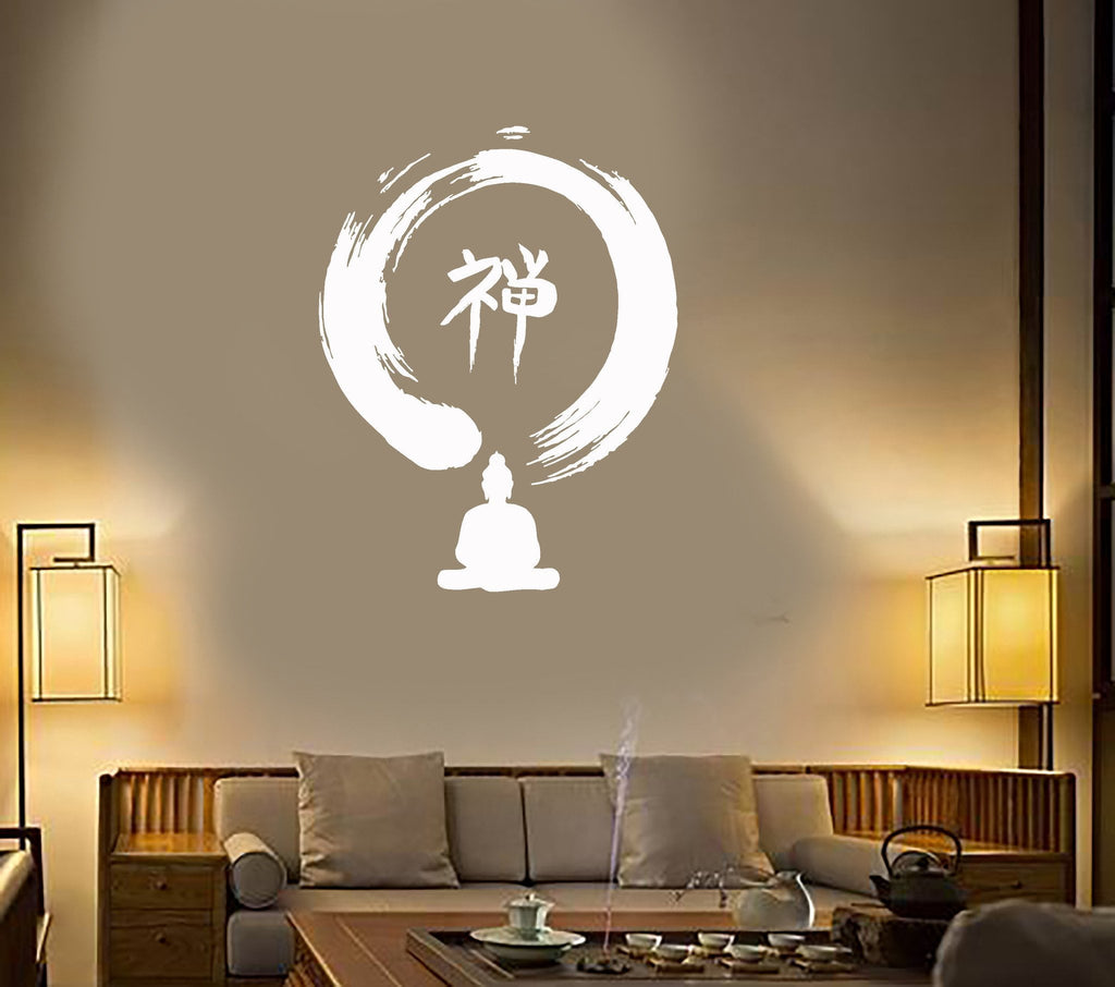 Vinyl Decal Enso Circle Buddha Zen Buddhism Meditation Wall Stickers Mural Unique Gift (ig2733)
