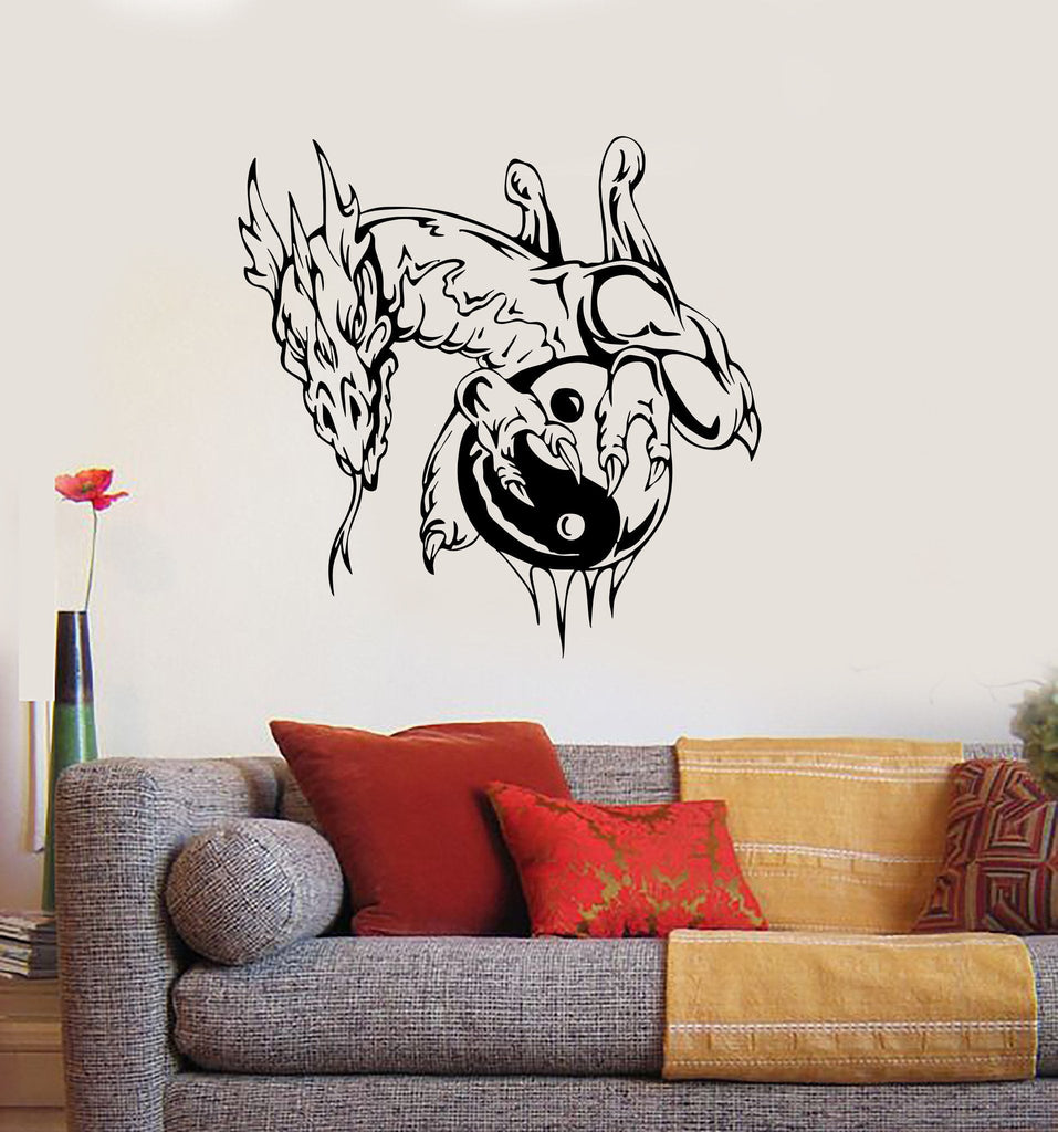 Wall Sticker Vinyl Decal Chinese Philosophy Yin Yan Oriental Dragon Unique Gift (ig1939)