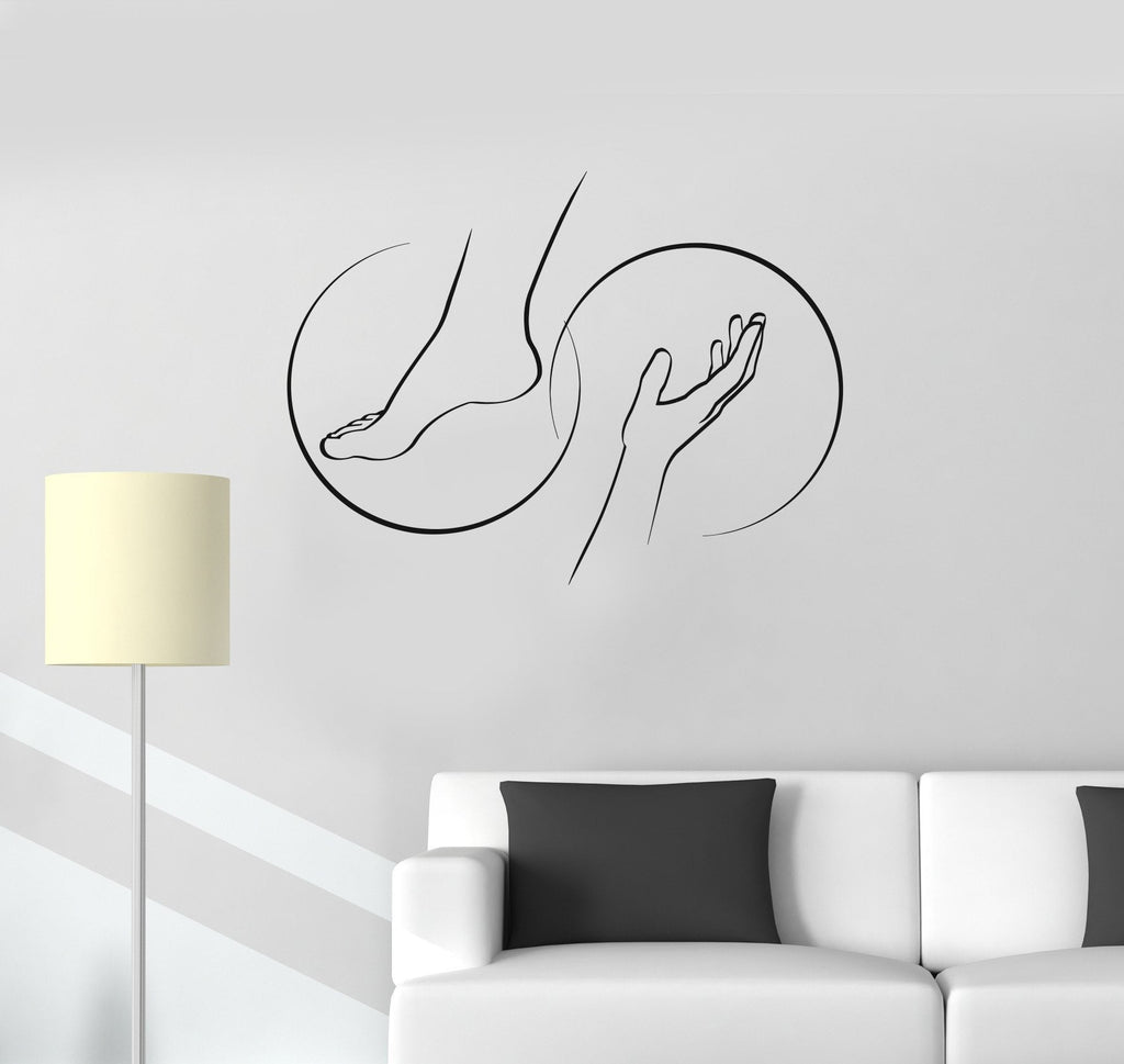Vinyl decal foot massage spa salon relax therapy beauty wall stickers wallstickers4you