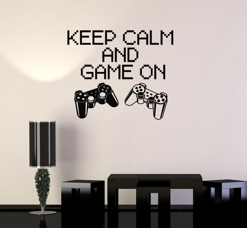 vinyl decal quote gaming game video game playroom wall stickers