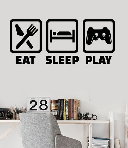 Vinyl Wall Decal Gaming Lifestyle Video Game Playroom Teen Room Stickers Unique Gift (ig3440)