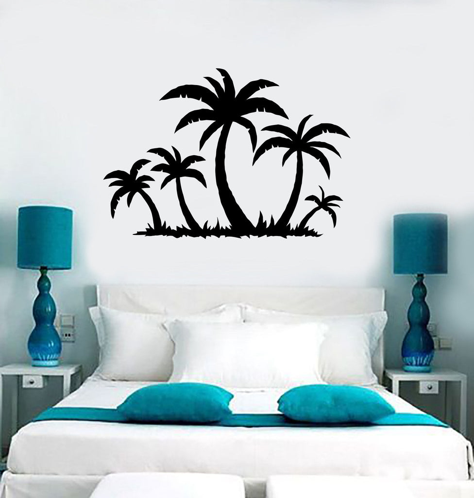 Wall sticker vinyl decal tropical palm tree beach relax decor wall sticker vinyl decal tropical palm tree beach relax decor unique gift ig1769 amipublicfo Image collections