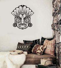 Vinyl Decal Shaman Mask Ancient Maya Inca Wall Sticker Mural Unique Gift (i005)