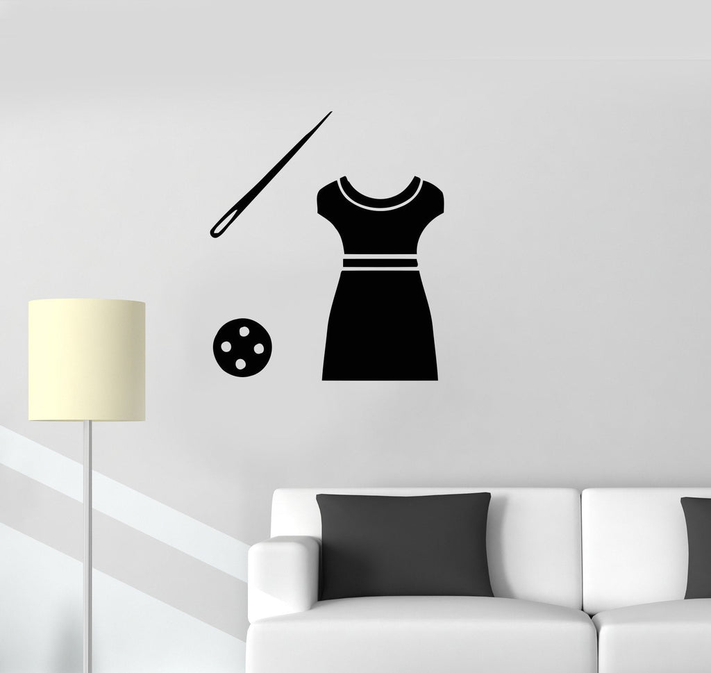 Vinyl Decal Tailor Atelier Clothing Fashion Design Art Wall Stickers Mural Unique Gift (ig2740)