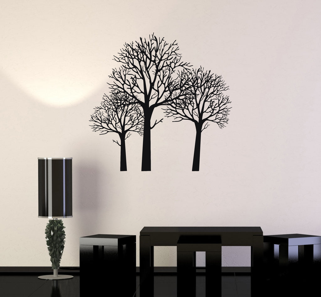 Vinyl Decal Trees Forest Beautiful Room Decor Wall Stickers Mural Unique Gift (ig2765)