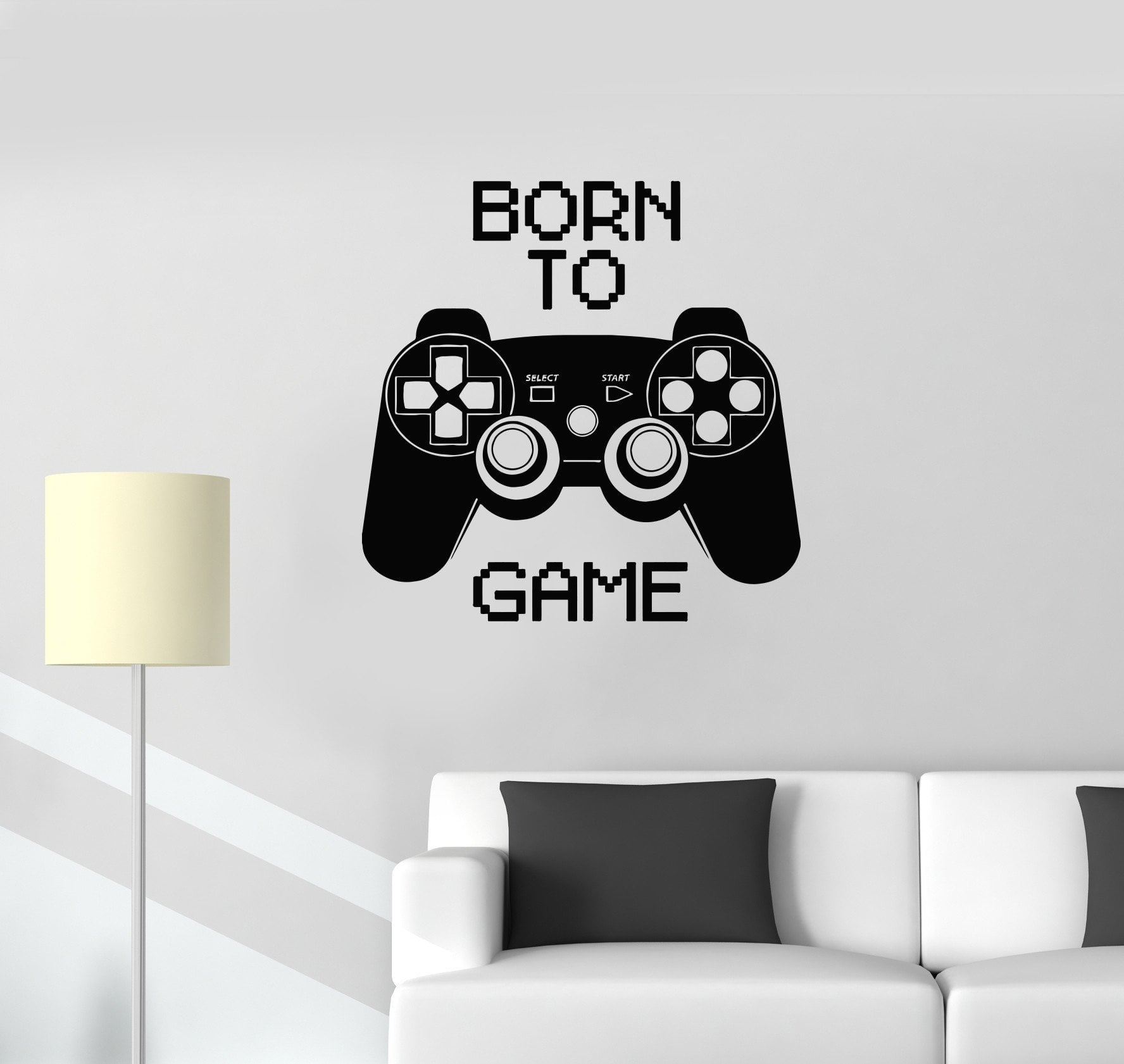 Vinyl Decal Quote Video Game Computer Joystick Gaming Teen Boys Room Wall Stickers Unique Gift (ig2752)