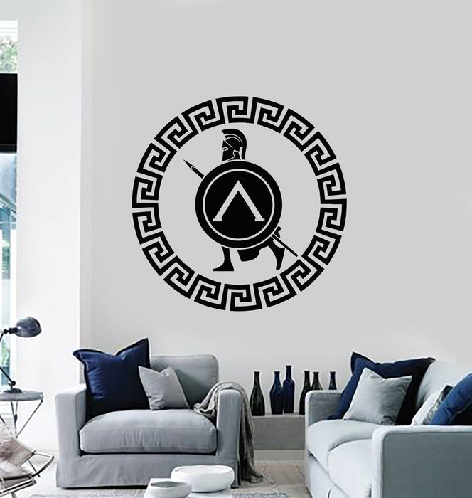 Vinyl Wall Decal Sparta Spartan Ancient Warrior Spear Shield Stickers Mural (g797)
