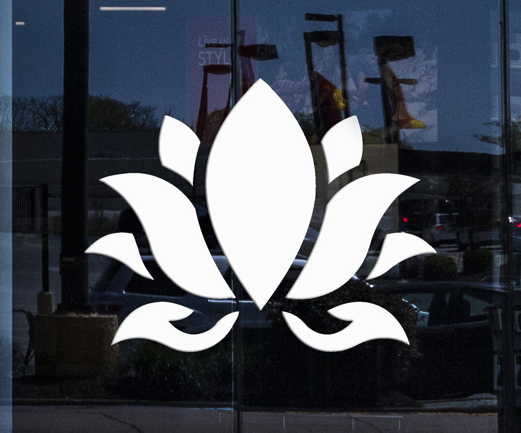 Custom window and wall vinyl decal lotus flower buddhism hinduism custom window and wall vinyl decal lotus flower buddhism hinduism yoga stickers unique gift 394igw mightylinksfo Image collections