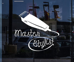 Custom Window and Wall Vinyl Decal Master Stylist Hair Salon Hairdresser Barbershop Unique Gift (ig3980w)