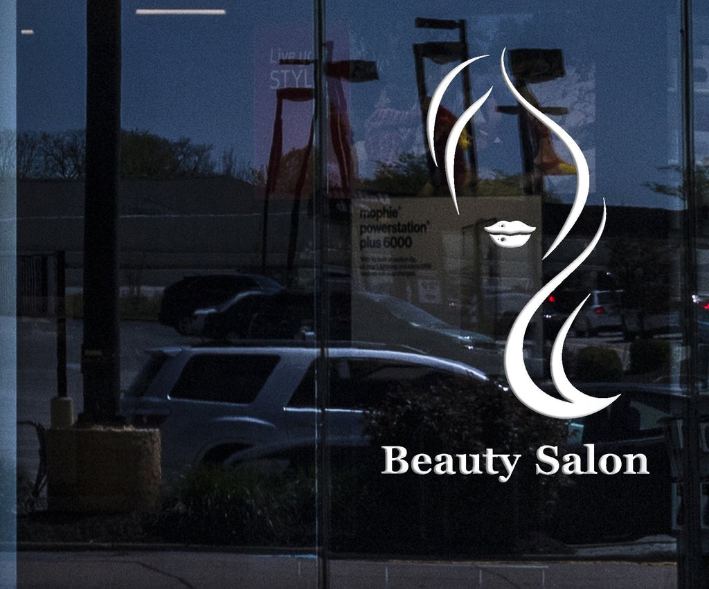 Window Sign for Business Wall Decal Beauty Salon Lettering Woman Hair Hairdresser Stickers Mural Unique Gift (ig5048w)