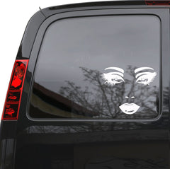 "Auto Car Sticker Decal Female Face Sexy Lips Eyes Truck Laptop Window 6"" by 5"" Unique Gift m417c"