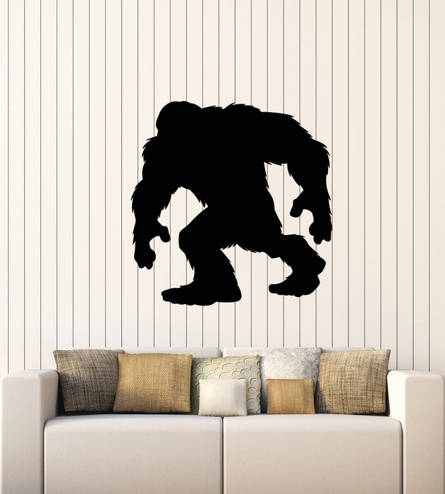 Vinyl Wall Decal Myth Yeti Bigfoot Fantastic Monster Kids Room Stickers Mural (g1559)