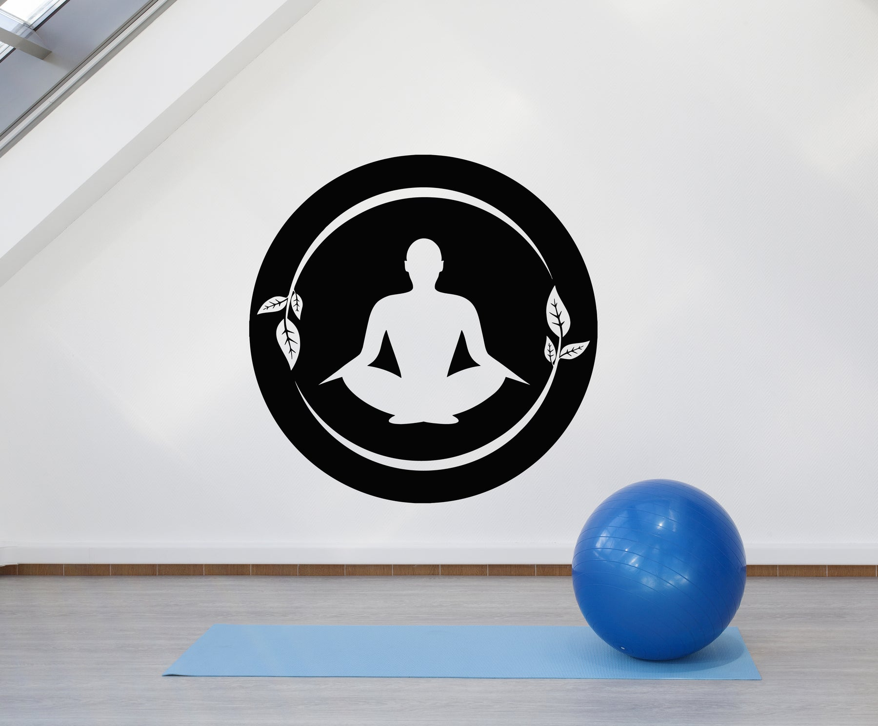 Vinyl Wall Decal Lotus Pose Yoga Center Meditation Mantra Stickers Mural (g1957)