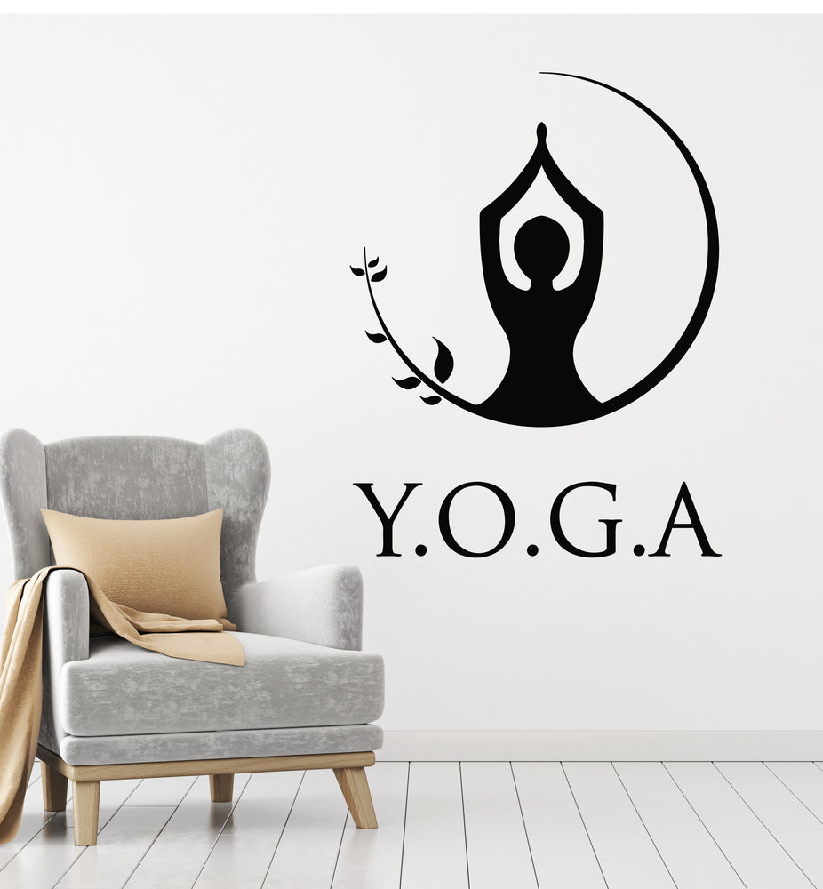 Vinyl Wall Decal Buddha Yoga Zen Nature Meditation Relaxation Zen Stickers Mural (g2049)