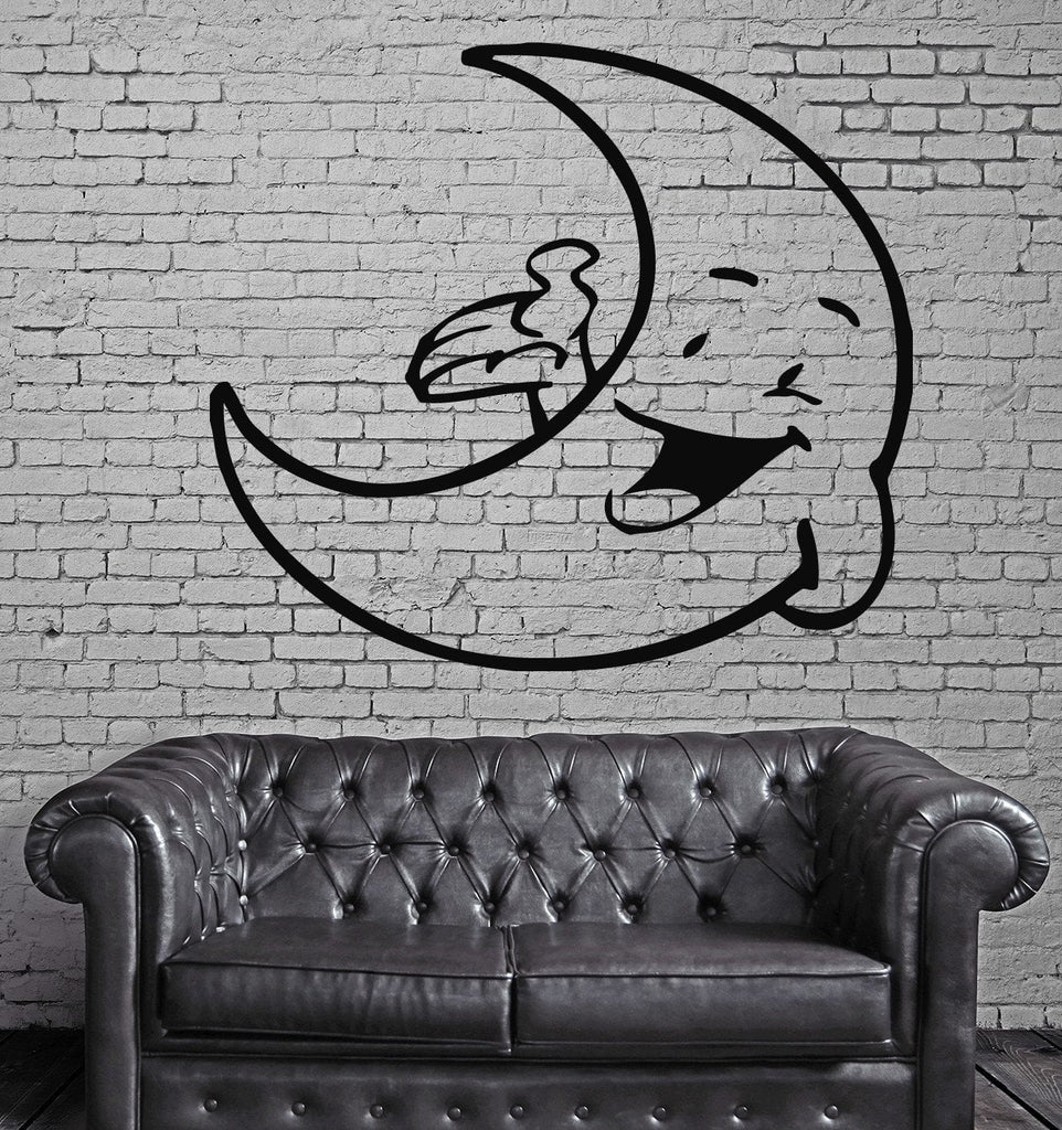 Funny Moon Baby Kids, Children Cartoon Mural Wall Art Decor Vinyl Sticker z023