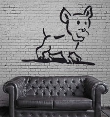 Dog Puppy Animal Funny Kids Children Mural Wall Art Decor Vinyl Sticker z087