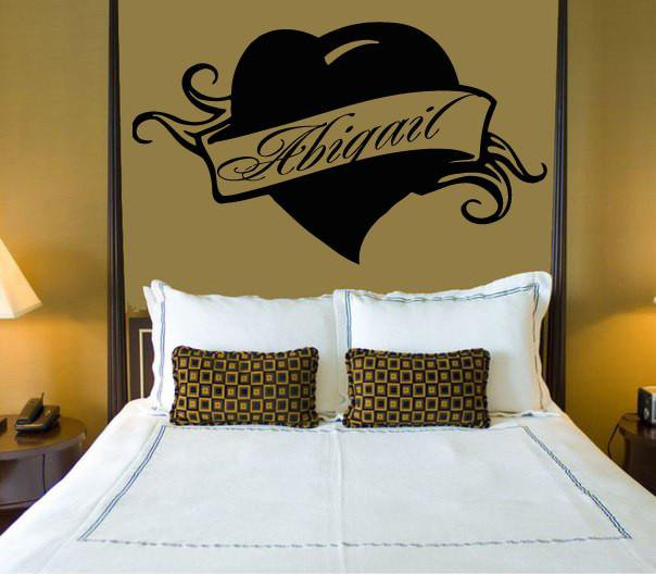 Vinyl Decal Abigail Personalized Name Lettering Custom Wall Art Decor Sticker for Bedroom Unique Gift (z1000)