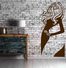 Girl Teen Mermaid Sexy Decor For Bedroom Wall Sticker Vinyl Decal  (z1119)