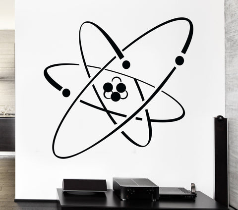 Vinyl Decal Atom Electron Science Chemistry Nuclear Physics Decor Wall Sticker (z1239)