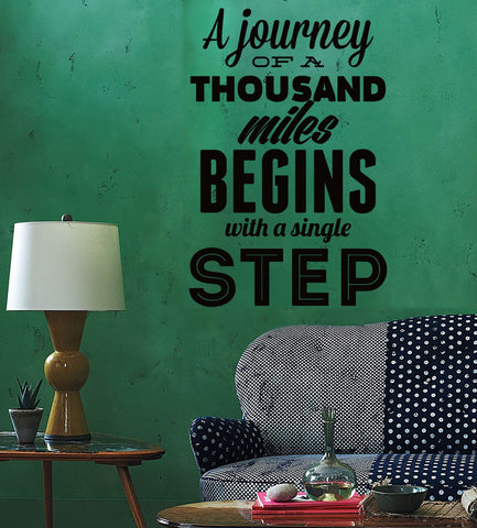 Wall Sticker Quotes Words A Journey Of Thousand Miles Begins With Single z1493