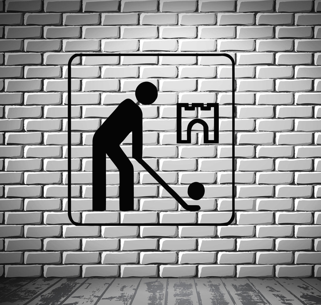 Golf Golfer Sport Animated Funny Mural Wall Art Decor Vinyl Sticker z166