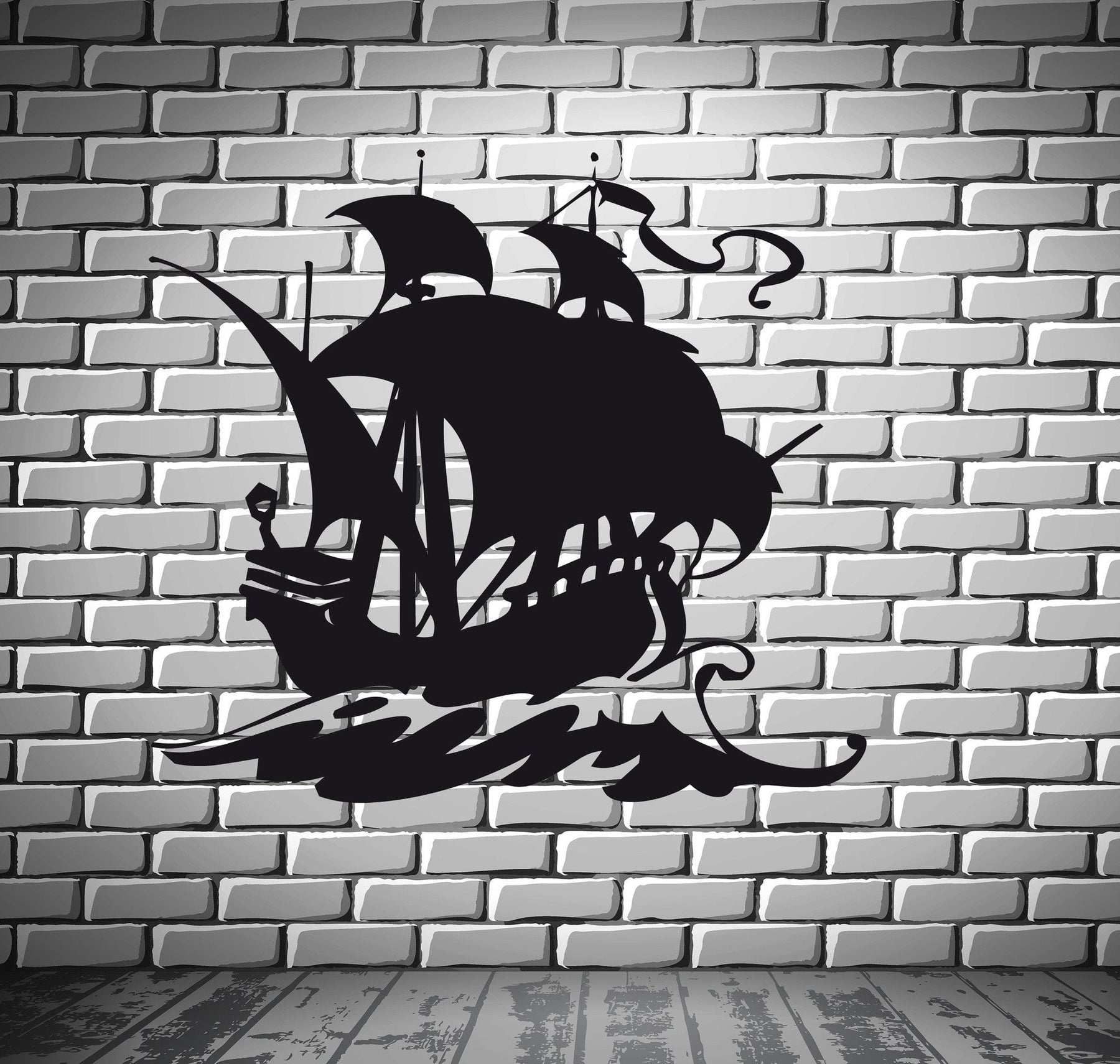 Vinyl Decal Ship Yacht Boat Sea Brig Water Sport Mural Wall Art Decor Sticker (z182)